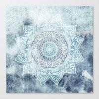 DEEP BLUE MANDALA Canvas Print