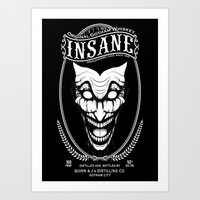 Insane Whiskey Art Print