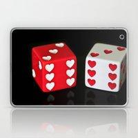 Dice Hearts Laptop & iPad Skin