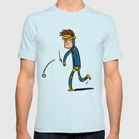 Cyclops Loves Baseball Mens Fitted Tee Light Blue SMALL