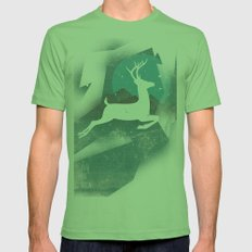 Over The Moon Mens Fitted Tee Grass SMALL