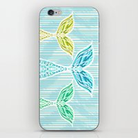 Mermaids and Stripes iPhone & iPod Skin