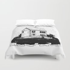 A House in Newfoundland Duvet Cover