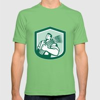 Wheat Farmer Looking Up … Mens Fitted Tee Grass SMALL