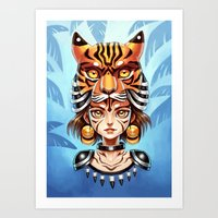 Tiger Tribe Art Print