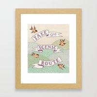 Take The Scenic Route Pr… Framed Art Print