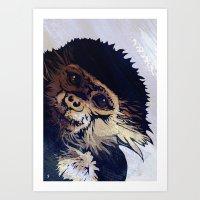 monkey Art Prints featuring MONKEY by SAMHAIN