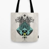 Blue Leopard Tote Bag