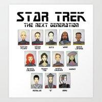 STAR TREK THE NEXT GENER… Art Print