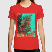 Japanese Maple Womens Fitted Tee Red SMALL