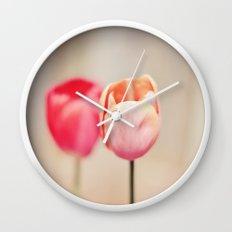 Pair of Tulips Wall Clock