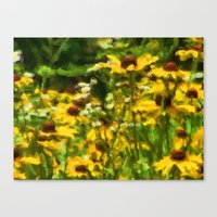 Wildflowers Painting Canvas Print