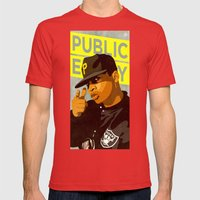 Chuck D Mens Fitted Tee Red SMALL