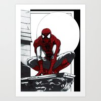 Spiderman Noir (Alt. Version) Art Print