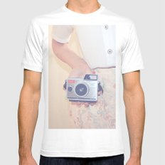 OLD SCHOOL Mens Fitted Tee White SMALL
