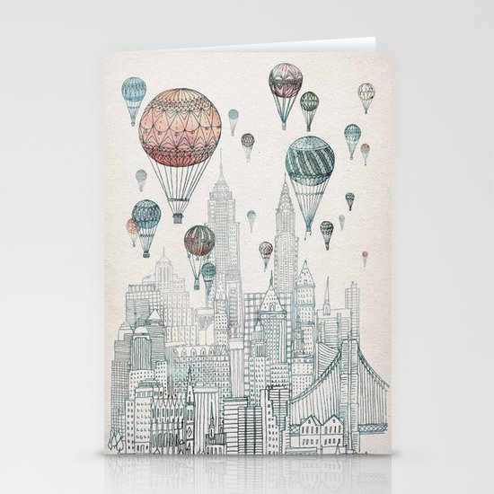Voyages Over New York Stationery Card