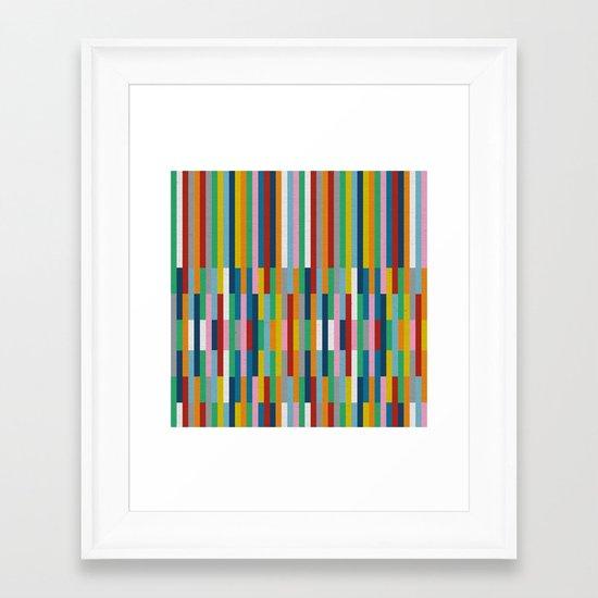 Bricks Rotate #3 Framed Art Print