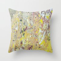March Rain Throw Pillow