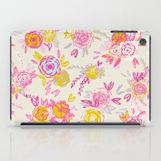 Flower garden in pink and yellow iPad Case