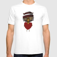Yours White SMALL Mens Fitted Tee