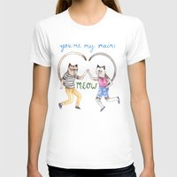 You're My Main Meow Womens Fitted Tee White SMALL
