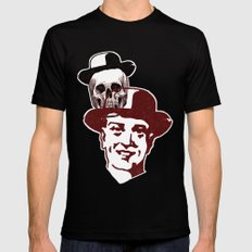 Procession Through Time SMALL Black Mens Fitted Tee
