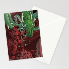 The Dragon on Mars Stationery Cards