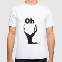 Oh deer Mens Fitted Tee Ash Grey SMALL