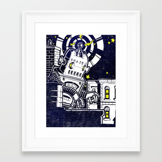 ROBO ATTACK! Framed Art Print