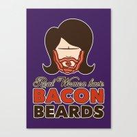 Bacon Beard (women's Ver… Canvas Print