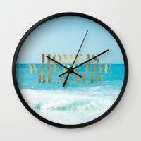 Home Is Where The Beach … Wall Clock