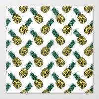 Neo-Pineapple - Pineapple Canvas Print