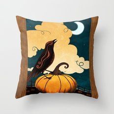 Halloween Is In The Air Throw Pillow