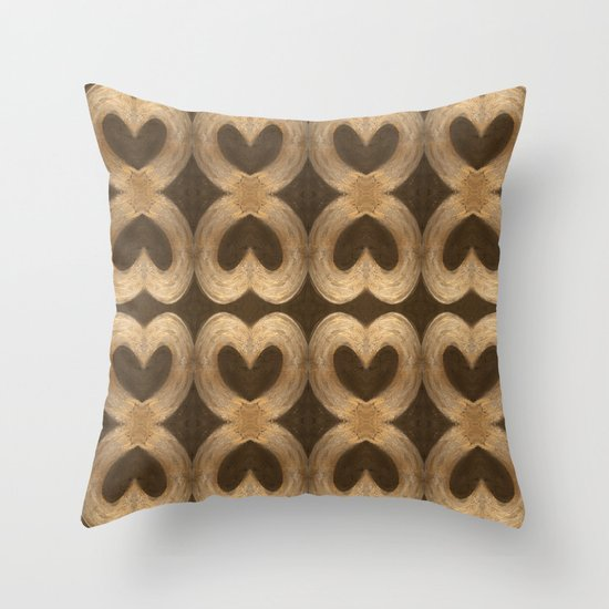 Burleniya hearts (alternative version) Throw Pillow
