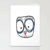 Blue glasses Stationery Cards
