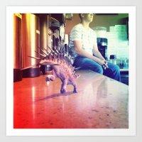 Running Dino Art Print