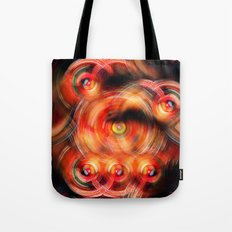 Secret Neural Pathways of an FM Synth #abstract Tote Bag