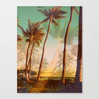 Man Bear Tree Canvas Print