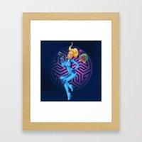 Samus Zero Suit Framed Art Print