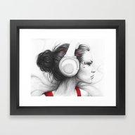 MUSIC - Pencil Portrait … Framed Art Print