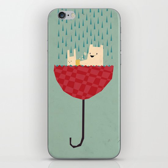 umbrella bath time! iPhone & iPod Skin