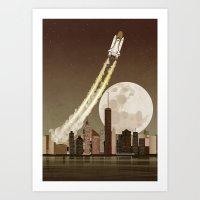 Rocket City Art Print