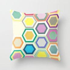 Honeycomb Layers II Throw Pillow