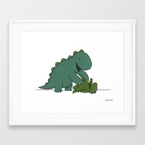 Tickle Monster  Framed Art Print