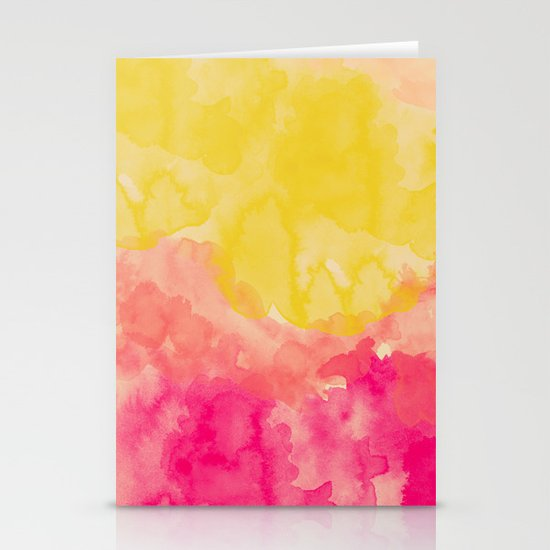 Swimming In Flowers Stationery Card