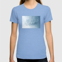 Interconnected Chairs Womens Fitted Tee Tri-Blue SMALL