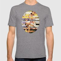 Glitch Pin-Up Redux: Isabella Mens Fitted Tee Tri-Grey SMALL