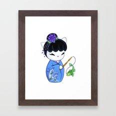 Dragon Fish Print Framed Art Print