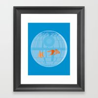 Empire Fish Bowl Framed Art Print
