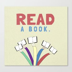 Read a book. Canvas Print